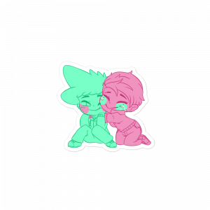Poke & Deku Single Color Sticker